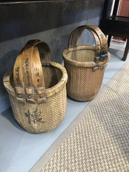 Old wicker baskets