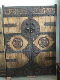 elmwood and metal doors - SOLD