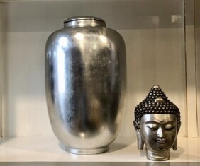 Silver Leaf Ginger Jar